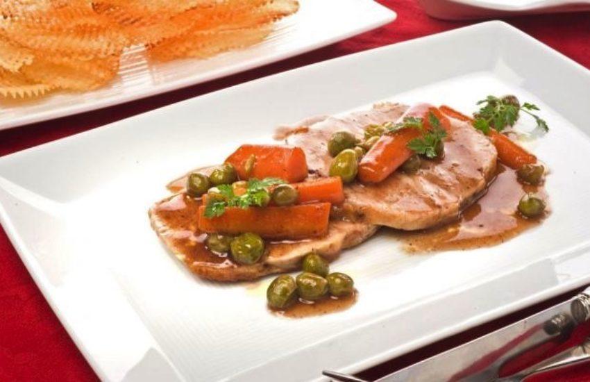 Lomo de cerdo con salsa