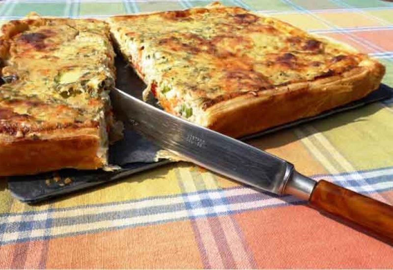 Terrina de verduras y setas al aceite de oliva
